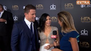 'Extra' at the Hollywood Film Awards with Channing Tatum, Julianne Moore, and Others