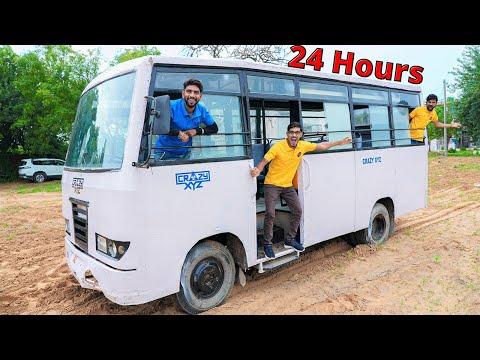 Living 24 Hours Straight In Bus Challenge   अब 24 घंटे इस से बाहर नहीं आ सकते  