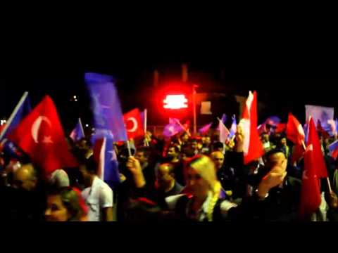 AK Parti Milas 1 Kasım 2015 seçimi kutlamaları
