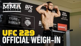 Video UFC 229 Official Weigh-In Highlights - MMA Fighting MP3, 3GP, MP4, WEBM, AVI, FLV Februari 2019