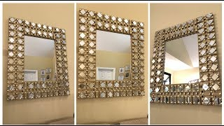 Dollar Tree DIY || Gold Glam Wall Mirror
