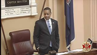 Virginia Lt. Governor Justin Fairfax Gives Speech From Senate Dais — Feb. 24, 2019