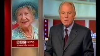 Video BBC News bulletin after Queen Mother dies MP3, 3GP, MP4, WEBM, AVI, FLV April 2018