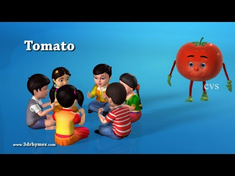 VEGETABLES - Learn Vegetables - 3D Animation Learning English preschool rhymes for children Learn Vegetables for children.