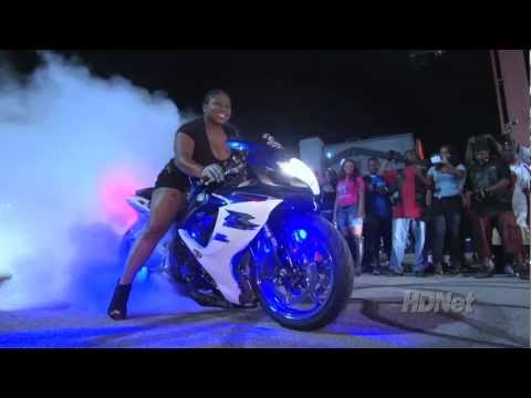 BLACK BIKE WEEK - Motorcycles aren't just for guys and this chick definitely knows what she's doing behind the handlebars.