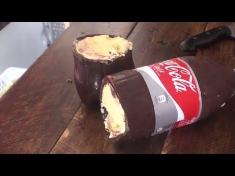 Tarta helada con forma de Coca-Cola