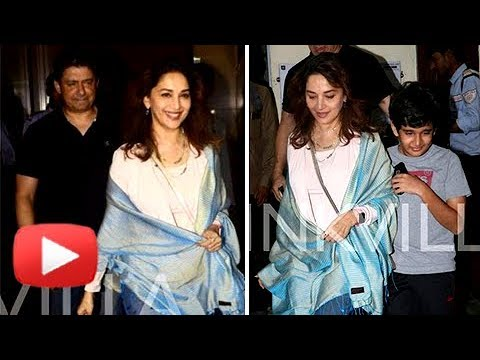 Madhuri Dixit Enjoys Movie With Her Husband And Ki