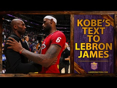 Video: Kobe Bryant Trash-Talking With LeBron James, Old Text Message Revealed