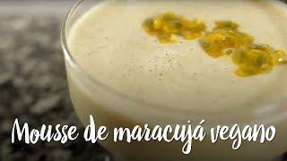 Experimente - Mousse de maracujá vegano