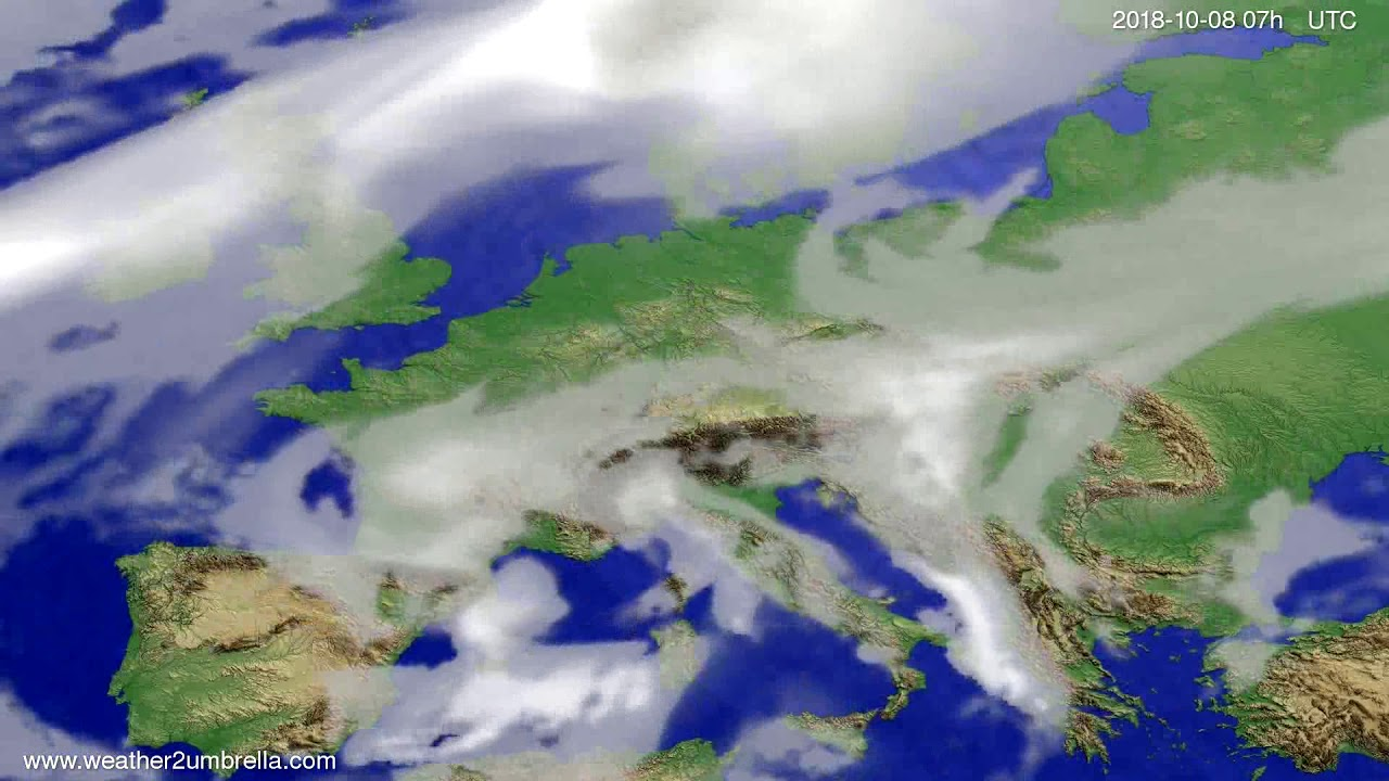Cloud forecast Europe 2018-10-04