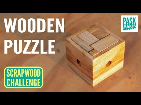 Woodworking ideas - Wooden Puzzle - Easy to Make for a Gift - Scrapwood Challenge Day Four
