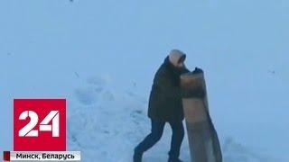 Мужчина принял ковер за противника и избил его. Видео