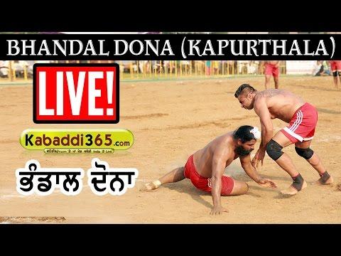 Bhandal Dona (Kapurthala) Kabaddi Cup  27 Nov 2016