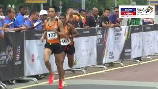 Reaksi Muhaizar Mohamad selepas meraih pingat gangsa dalam acara Marathon 42km. SUBSCRIBE YouTube Astro Arena...
