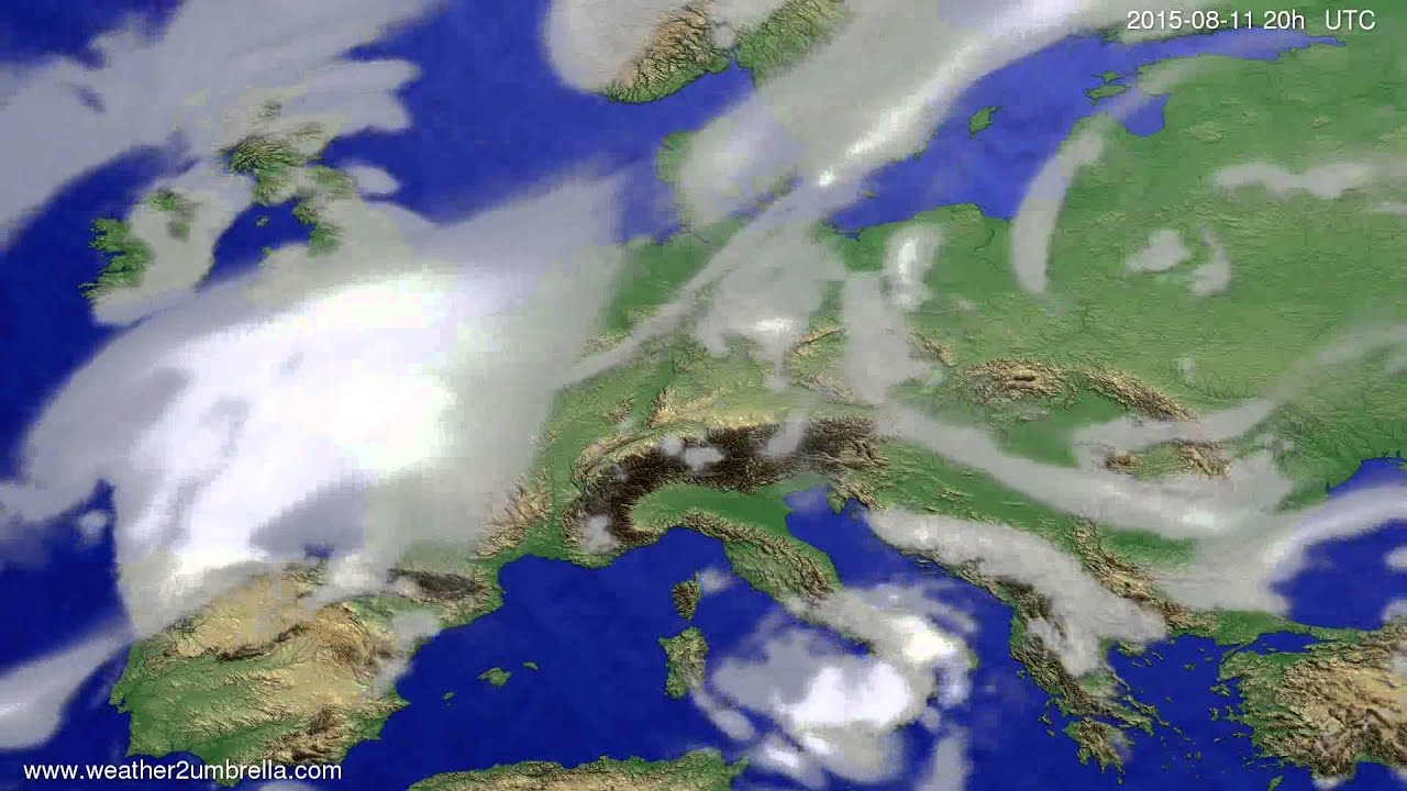 Cloud forecast Europe 2015-08-09