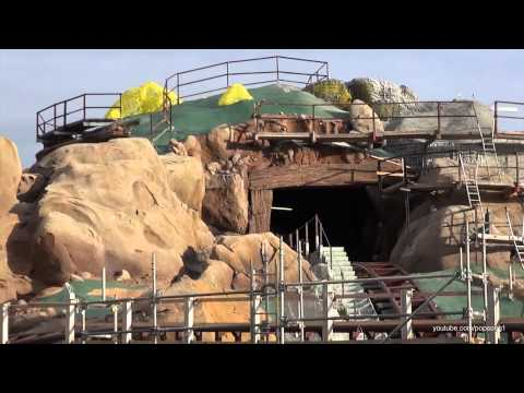 Walt Disney - Construction continues on the Seven Dwarfs Mine Train Roller Coaster at the Magic Kingdom in New Fantasyland. The ride is scheduled to open next year. Filmed...
