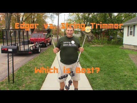 Edger vs. String Trimmer - Which One is Better for Edging (видео)