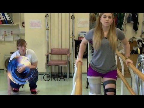 Alton Towers crash victim Victoria Balch learns to walk again - BBC News