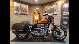 4. 2019 Harley-Davidson Sport Glide FLSB-Scorched Orange & Black Denim.