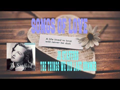 Tekst piosenki Jo Stafford - The Things We Did Last Summer po polsku