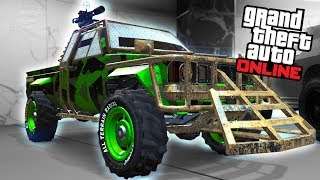"""This video shows the Karin Technical Custom added with the free """"Gunrunning"""" Update for Grand Theft Auto Online===================================Video recorded on: PC with all maxed out settings=================================== GTA Series Videos is a dedicated fan-channel keeping you up to date with all the latest news, video walkthroughs and official trailers of the most successful video games published by Rockstar Games, including Grand Theft Auto series, Red Dead Redemption, Max Payne, L.A. Noire, Bully and many others.This channel is in no way tied to Rockstar Games or Take-Two Interactive.Follow GTA Series Videos on: YouTube - http://www.youtube.com/GTASeriesVideos Google+ - http://www.google.com/+GTASeriesVideos Facebook - http://www.facebook.com/GTASeriesNews Twitter - http://www.twitter.com/GTASeriesFor more info and videos visit:http://www.GTASeriesVideos.com  http://www.GTA-Series.com  http://www.GTA-Downloads.com  http://www.Games-Series.com"""