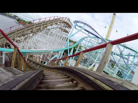 POV - This is one crazy twisted mess of a wooden roller coaster and it's AWESOME!!! Grona Lund's Twister is one hell of a wild ride! Filmed by Robb Alvey & Craig Knight - http://www.themeparkreview.com...