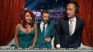 James Hinchcliffe and Sharna Burgess - Dwts All Access - Interviews with Dominic Bowden - Season 23