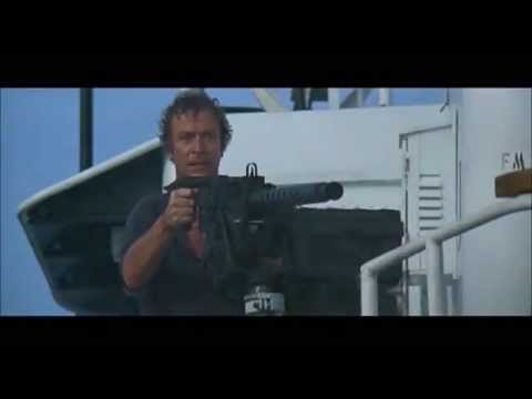 Michael Caine with a really big gun...