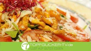 Gebratene Pfifferlinge mit Salbei an Rucola und Vinaigrette | Rezeptempfehlung Topfgucker-TV