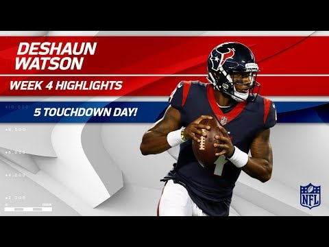 Deshaun Watson's Unreal 5 TD Day Against Tennessee | Titans vs. Texans | Wk 4 Player Highlights (видео)