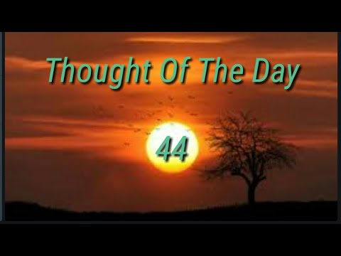 Quote of the day - Thought Of The Day - 44 / Daily Thoughts or Quotes Of Great  Person's