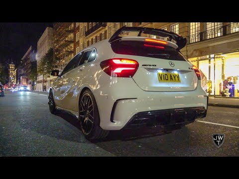 Mercedes-Benz A45 AMG WAKING UP London! REVS, Launch Controls & MORE!