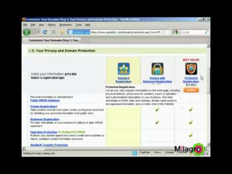 How to register domain name on Godaddy | Internet Marketing Tutorial | Milagro Fusion Marketing