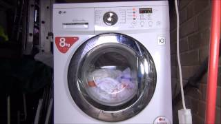 LG F1222TD Direct Drive Washing Machine : cotton 95 medic rinse + intensive