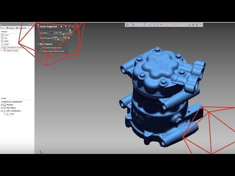 Reverse Engineering A Compressor Using 3D Scan & Geomagic Design X