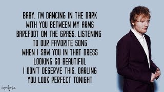Video Perfect - Ed Sheeran (Lyrics) MP3, 3GP, MP4, WEBM, AVI, FLV Mei 2019