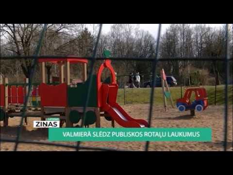 Valmierā no 23.marta apmeklējumam slēgti rotaļu laukumi