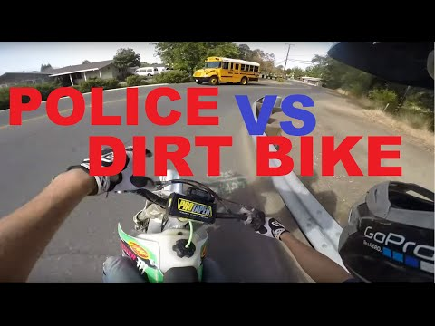BADASS CR250 Dirt bike Police Getaway