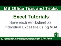 How to Save Each Worksheet as Individual Excel File using VBA | Excel VBA Tutorial