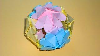 Оригами Шар Любви из бумаги Подарок на День святого Валентина