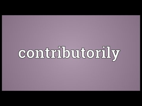 Contributorily Meaning