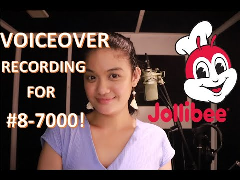 I'M THE NEW VOICEOVER FOR JOLLIBEE!