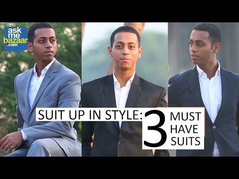 Suit up in Style-3 Must Have Suits