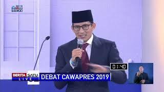 Video Pidato Penutup Sandiaga Uno di Debat Cawapres 2019 MP3, 3GP, MP4, WEBM, AVI, FLV Maret 2019
