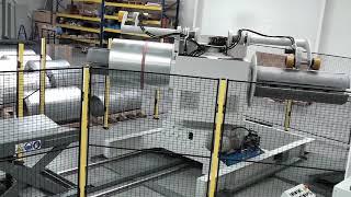 Rozwijak dwuramienny dla kręgów blachy do 6 Ton każdy, szerokość kręgu 1500mm.