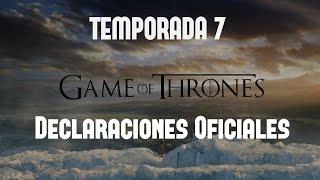 Aquí una recopilación de las ultimas noticias sobre la 7ma Temporada de Game of Thrones, los datos oficiales, opiniones de los creadores y del elenco, así ...