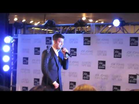 M Exclusive: Joe Jonas Loveslayer Saks Fifth Avenue Fashion's Night Out NYC Sept 8
