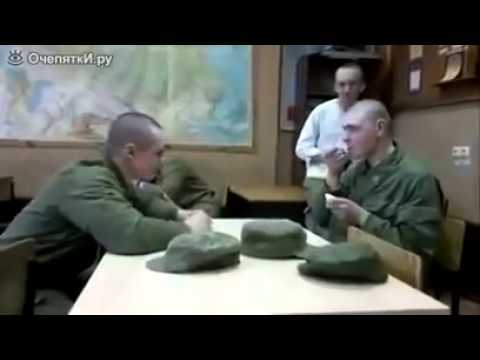 FUNNY JOKE PRANK VIDEO RUSSIA Russian soldiers spoon bucket war