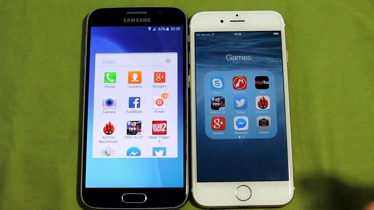Descargar SAMSUNG GALAXY S6 VS IPHONE 6 OPENING APPS SPEED COMAPRISON para Celular  #Android