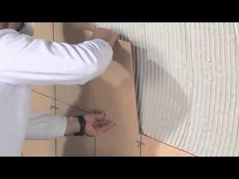 Colocación de cerámica en capa fina